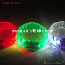 flshing light led bracelet of programmed silicone for concert used