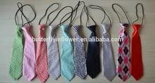 Fashion Baby Ties School Necktie For Girls Lovely Chevron Cotton Wholesale Neckties