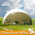 Marco de acero de estructura geodésica cúpula