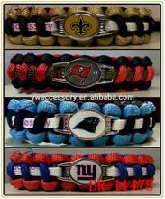 American football team paracord braided sport bracelet,nfl paracord survival bracelet