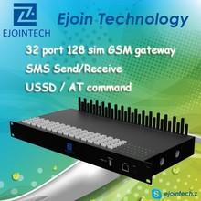 Hot Sale GoIP gateway!! Ejointech anti sim blocking GSM sip gateway with 32 port 128 sim cdma phone