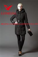 maxi wool women winter coats with fur collar