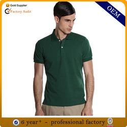 Design 100% pique cotton polo shirt custom fit