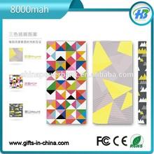 Fashion 8000mAh high capacity portable solar charger