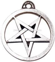 Wholesale fashion design high quality zinc alloy silver plated 40mm pentagram pendant