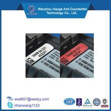 Custom digital printed Water detection labels