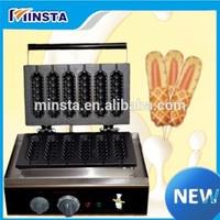 China french corn hot dog waffle stick maker snack food making machine