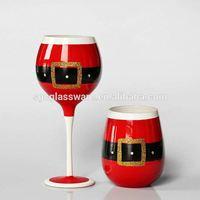 wine glass with metal stem