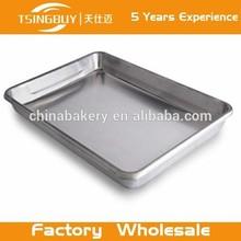 Tsingbuy new handmade 100% Eco-friendly aluminum stainless steel rectangular tray food tray serving tray