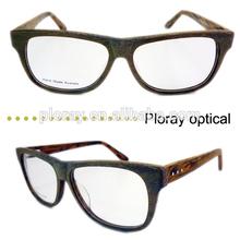 Italian designer men glasses frame fashion wood grain optical frames