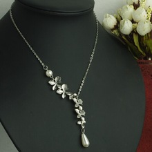 ail express pearl necklace, pearl necklace, chain necklace