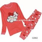 wholesale lovely red sleepwear for kids