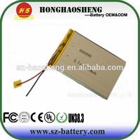 China manufacturer OEM 3.7v li-ion polymer battery 4000mAh 606090 for power tools