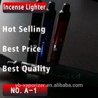 censer pen with black leather incense burner incense vaporizer dry herb tobacoo lighter herb vaporizer portable A-1