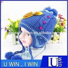 blue winter earflaps knitting pattern children hats