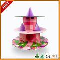 Shenzhen pop pastel de soporte de cartón pantalla, ronda de la torta de la boda se encuentra, ronda de pantallas de suelo para la magdalena