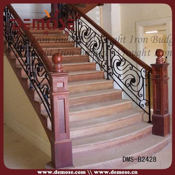 Franc s de hierro forjado barandillas para escaleras de - Pasamanos de hierro forjado para escaleras ...