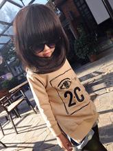 [ Girl ] Petty Kids super practical joker tide models plus velvet backing shirt BZ-685 cargo