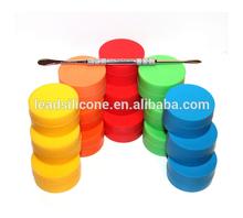 2014 hot selling Custom Wholesale Mini Cheap small butane hash oil silicone container silicone oil container