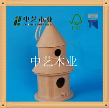 FSC&SA8000 sale Creative 8 cm Wooden Miniature Round Bird house /cage /nest