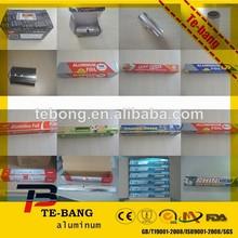 Stock lot household aluminium foil 10 micron thickness aluminum foil