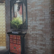 HOT SALE Chinese Cheap Korean PVC Brick Wallpaper for home