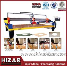 stone slab edge profiling machine, marble and granite slab edge cutting and drilling machine