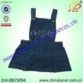 fabricación de los niños niñas denim general vestido de pantalones de peto niños vestido de dril de algodón vestido