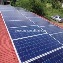 Bluesun cheap design 10kw grid zero environmental impact of solar energy