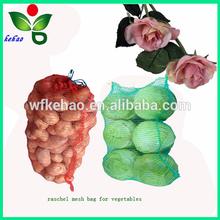 knitted plastic mesh bag for potatoes
