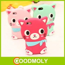 wholesale cell phone case 3D silicone Lovely cat phone case for iPhone 5/5s/5c/6