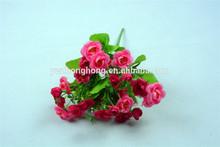 21 cabeças coréia estilo flor artificial cottonrose hibisco para decoração de casa flores