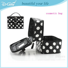 Double fashion nylon cosmetic bag with different colors
