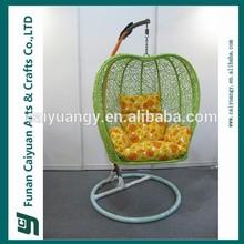 appe style new design PE rattan patio rattan swing chair