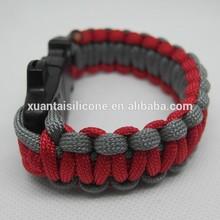 Chinese Factory Wholesale sale two colour 550 christmas paracord survival bracelet