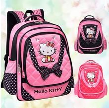 Fashion Children backpack hello kitty kids school bag