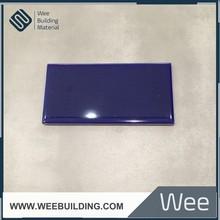 Hot sale dark blue ceramic bathroom wall tile borders 150x75mm
