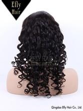 Eflyhair 5A pure peruvian virgin hair full lace wig ,bleached knots baby hair around