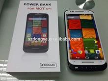 New Product!! LED lighting power case for new Motorola X 2014 4200mAh power bank case for Moto X+1