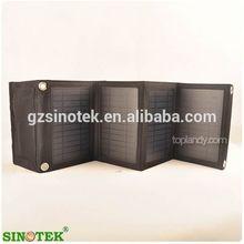SINOTEK polyester portable travel foldable mobile phone solar charger bag