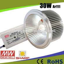 Europe hot sale Reflector ar111 60 degree 220V 230V cob 30w ceiling light