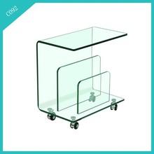 wheels base glass adjustable coffee table on sale