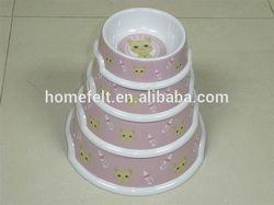heap Cartoon plastic dog bowls /Melamine pet bowls