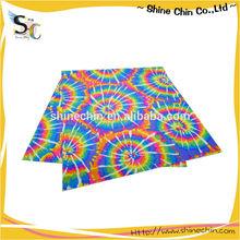 Rainbow tie dye pattern multifunctional seamless sublimation bandana
