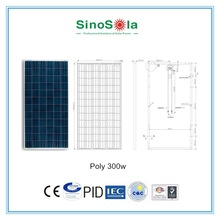 good price pv 18v solar panel 300w solar panel for solar home lighting system with TUV/PID/CEC/CQC/IEC/CE