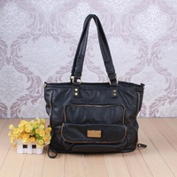 2015 textured faux leather bag washed pu handbag made in China