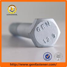Hardware manufacturer ISO 9001 factory DIN933 Grade 4.8 Fastener m9 hex bolt