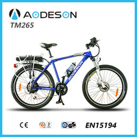 Alloy frame sport bicycle with disc brake TM265,mountain electric bike motorized bike