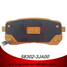 China Huadu factory semi metal brake pads for hyundai car parts oem: 58302-3JA00