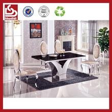 Shudidi metal and glass luxury dining room set for sale